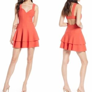 Finders Keepers Lines Tiered Mini Dress Sweetheart